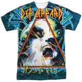 Def Leppard Hysteria Adult Sublimated Crew T-Shirt White