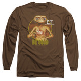 E.T. The Extra Terrestrial Be Good Long Sleeve Adult 18/1 T-Shirt Coffee Coffee