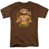 E.T. The Extra Terrestrial Be Good S/S Adult 18/1 T-Shirt Coffee