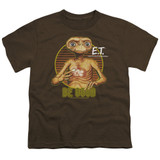 E.T. The Extra Terrestrial Be Good S/S Youth 18/1 T-Shirt Coffee