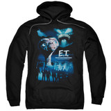 E.T. The Extra Terrestrial Going Home Adult Pullover Hoodie Sweatshirt Black