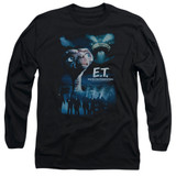 E.T. The Extra Terrestrial Going Home Long Sleeve Adult 18/1 T-Shirt Black
