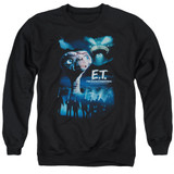 E.T. The Extra Terrestrial Going Home Adult Crewneck Sweatshirt Black