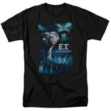 E.T. The Extra Terrestrial Going Home S/S Adult 18/1 T-Shirt Black