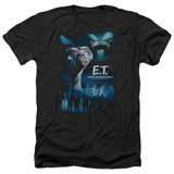 E.T. The Extra Terrestrial Going Home Adult T-Shirt Heather Black