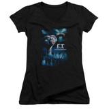 E.T. The Extra Terrestrial Going Home Junior Women's T-Shirt V-Neck Black