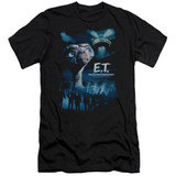 E.T. The Extra Terrestrial Going Home Premium Canvas Adult Slim Fit 30/1 T-Shirt Black