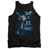 E.T. The Extra Terrestrial Going Home Adult Tank Top Black