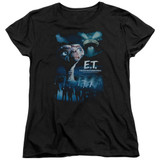 E.T. The Extra Terrestrial Going Home S/S Women's T-Shirt Black