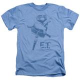 E.T. The Extra Terrestrial Bike Adult T-Shirt Heather Light Blue
