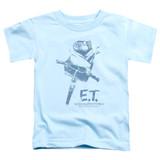 E.T. The Extra Terrestrial Bike S/S Toddler T-Shirt Light Blue