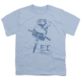 E.T. The Extra Terrestrial Bike S/S Youth 18/1 T-Shirt Light Blue