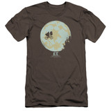E.T. The Extra Terrestrial In The Moon Premuim Canvas Adult Slim Fit 30/1 T-Shirt Charcoal