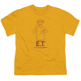 E.T. The Extra Terrestrial Alien Swag S/S Youth 18/1 T-Shirt Gold