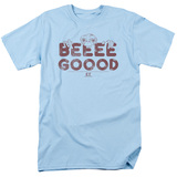 E.T. The Extra Terrestrial Be Good S/S Adult 18/1 T-Shirt Light Blue