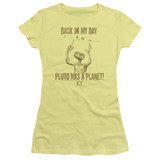 E.T. The Extra Terrestrial In My Day S/S Junior Women's T-Shirt Sheer Banana