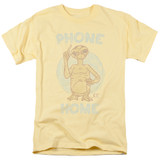 E.T. The Extra Terrestrial Phone S/S Adult 18/1 T-Shirt Banana