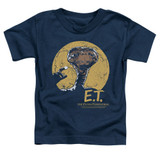 E.T. The Extra Terrestrial Moon Frame S/S Toddler T-Shirt Navy