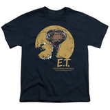 E.T. The Extra Terrestrial Moon Frame S/S Youth 18/1 T-Shirt Navy