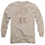E.T. The Extra Terrestrial Pointing Long Sleeve Adult 18/1 T-Shirt