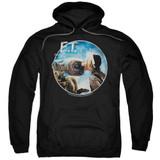 E.T. The Extra Terrestrial Gertie Kisses Adult Pullover Hoodie Sweatshirt Black