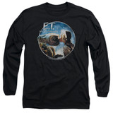 E.T. The Extra Terrestrial Gertie Kisses Long Sleeve Adult 18/1 T-Shirt Black