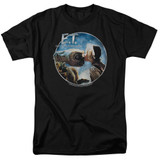 E.T. The Extra Terrestrial Gertie Kisses S/S Adult 18/1 T-Shirt Black