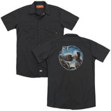 E.T. The Extra Terrestrial Gertie Kisses (Back Print) Adult Work Shirt Black