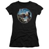 E.T. The Extra Terrestrial Gertie Kisses S/S Junior Women's T-Shirt Sheer Black