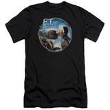 E.T. The Extra Terrestrial Gertie Kisses Premium Canvas Adult Slim Fit 30/1 T-Shirt Black