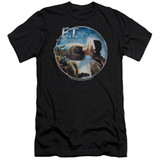 E.T. The Extra Terrestrial Gertie Kisses S/S Adult 30/1 T-Shirt Black