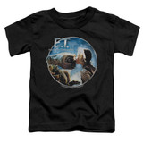 E.T. The Extra Terrestrial Gertie Kisses S/S Toddler T-Shirt Black