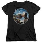 E.T. The Extra Terrestrial Gertie Kisses S/S Women's T-Shirt Black