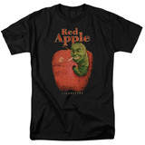 Pulp Fiction Red Apple S/S Adult 18/1 T-Shirt Black