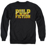 Pulp Fiction Pulp Logo Adult Crewneck Sweatshirt Black
