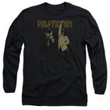 Pulp Fiction I Wanna Dance Long Sleeve Adult 18/1 T-Shirt Black