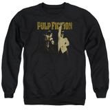 Pulp Fiction I Wanna Dance Adult Crewneck Sweatshirt Black