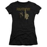Pulp Fiction I Wanna Dance S/S Junior Women's T-Shirt Sheer Black