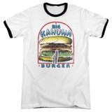 Pulp Fiction Big Kahuna Burger Adult Ringer T-Shirt White/Black