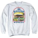 Pulp Fiction Big Kahuna Burger Adult Crewneck Sweatshirt White