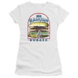 Pulp Fiction Big Kahuna Burger S/S Junior Women's T-Shirt Sheer White
