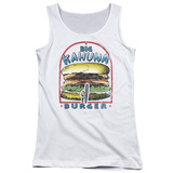 Pulp Fiction Big Kahuna Burger Junior Women's Tank Top   White