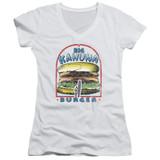 Pulp Fiction Big Kahuna Burger Junior Women's T-Shirt V Neck White