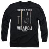 Pulp Fiction Choices Long Sleeve Adult 18/1 T-Shirt Black