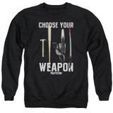Pulp Fiction Choices Adult Crewneck Sweatshirt Black