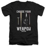 Pulp Fiction Choices S/S Adult V Neck 30/1 T-Shirt Black