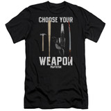 Pulp Fiction Choices Premium S/S Adult 30/1 T-Shirt Black
