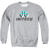 Office Space Initech Logo Adult Crewneck Sweatshirt Athletic Heather