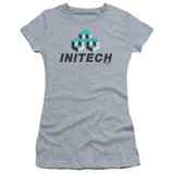 Office Space Initech Logo S/S Junior Women's T-Shirt Sheer Athletic Heather