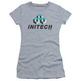 Office Space Initech Logo S/S Junior Women's T-Shirt Sheer Athletic Heather